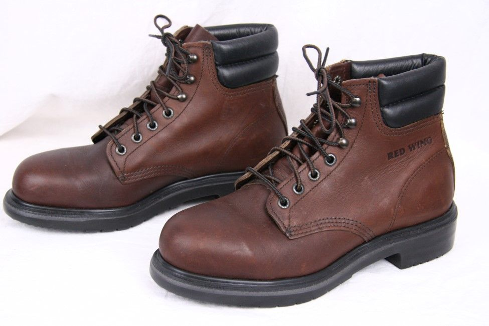 RED WING 2245 Brown Leather Steel Toe 6 inch Ankle Work Boots USA ...