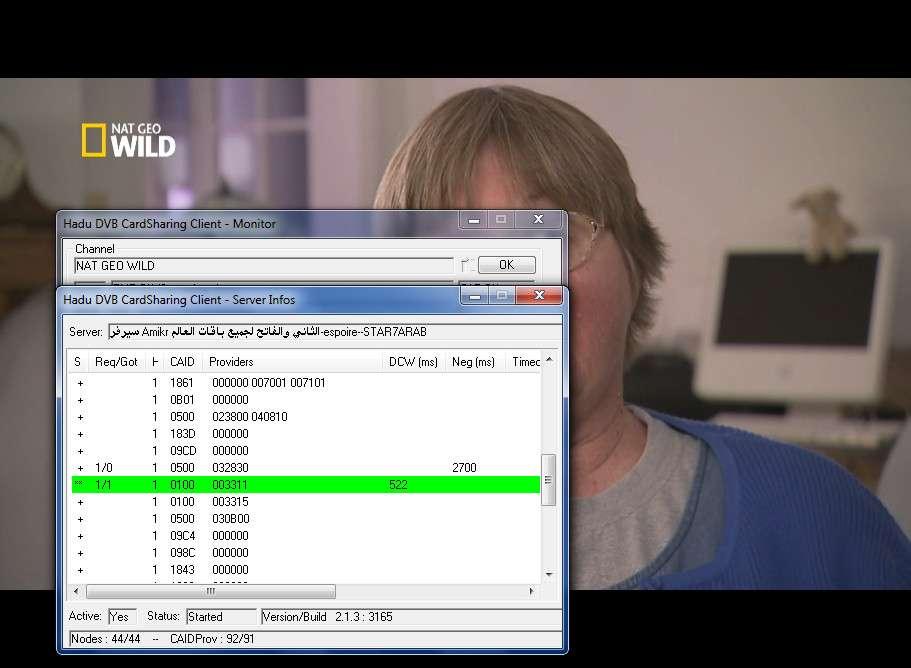 hadu dvb cardsharing client monitor