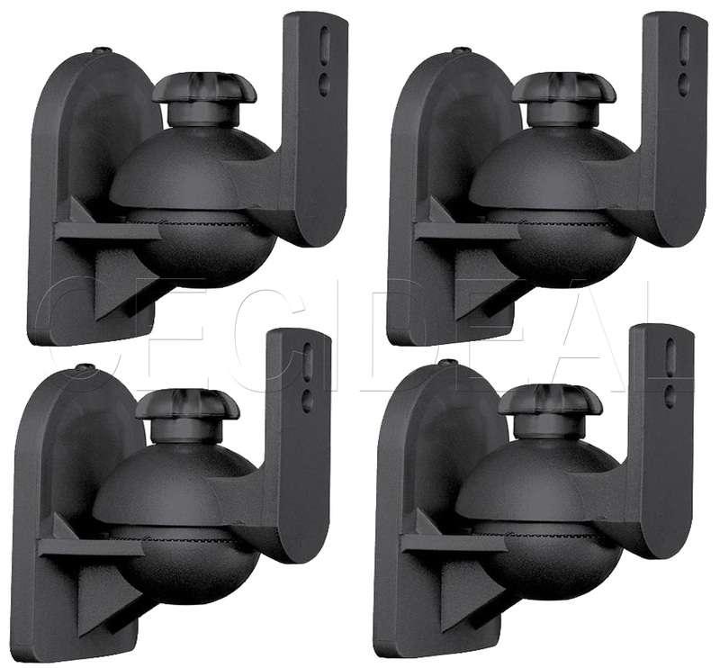 4 Pack Lot Universal Satellite Speaker Black Wall Mount